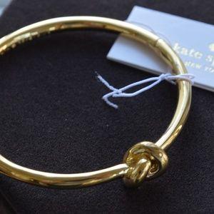 Kate Spade Gold Plated Knot Bangle Bracelet, NWT